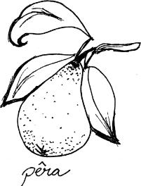Ingredientes Pêra